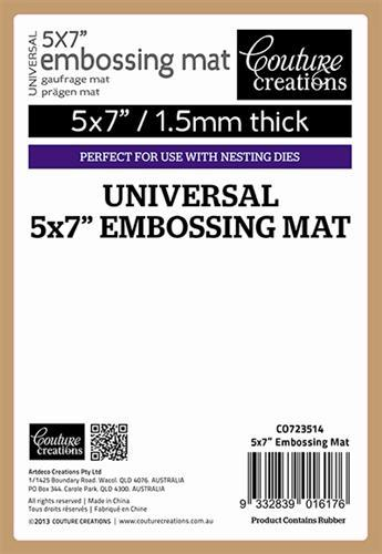 "Couture Creations Universal 5x7"" Embossing Mat Tan"