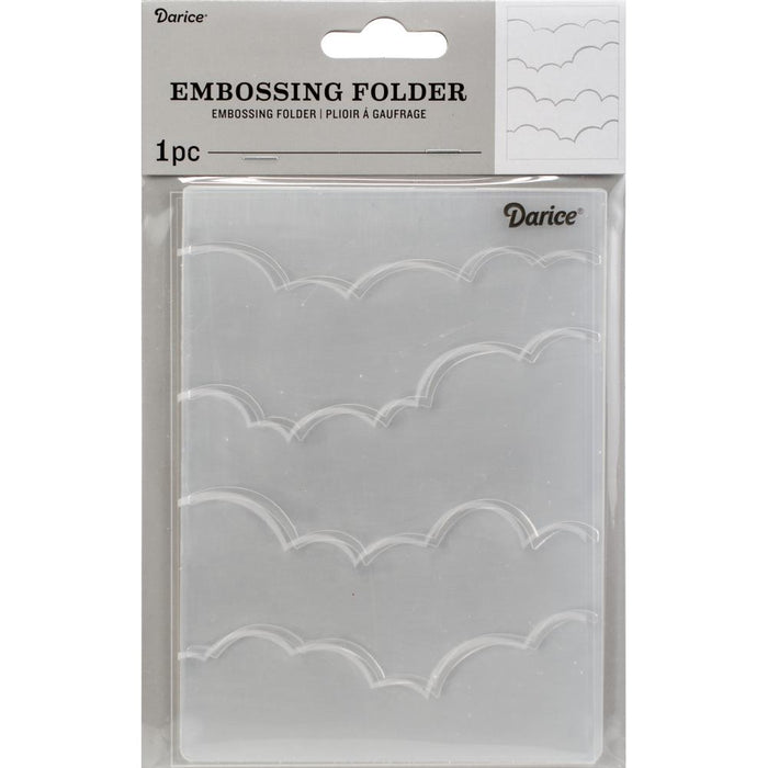 "Embossing Folder 4.25""X5.75"" - Clouds"