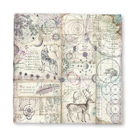 DFMC43 Currently in Stock Stamperia - Magna Carta handmade printed sheet 30x30cm - Cosmos astral