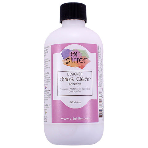 Artglitter Designer Dries Clear Adhesive 240ml./8oz.