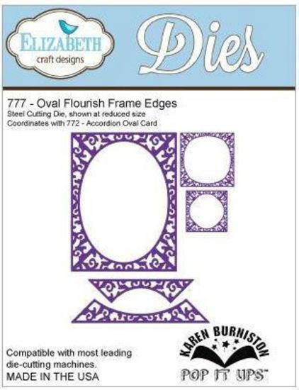 Elizabeth Craft Designs 777 Oval Flourish Frame Edges