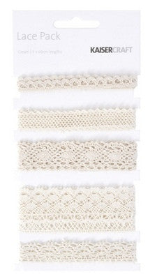 kaisercraft Lace Pack Cream EM927