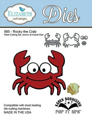 Elizabeth Craft Designs 985 Rocky the Crab
