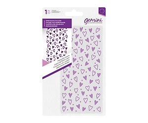"Embossing Folder 5.75"" x 2.75"" - Polka Dot Hearts"