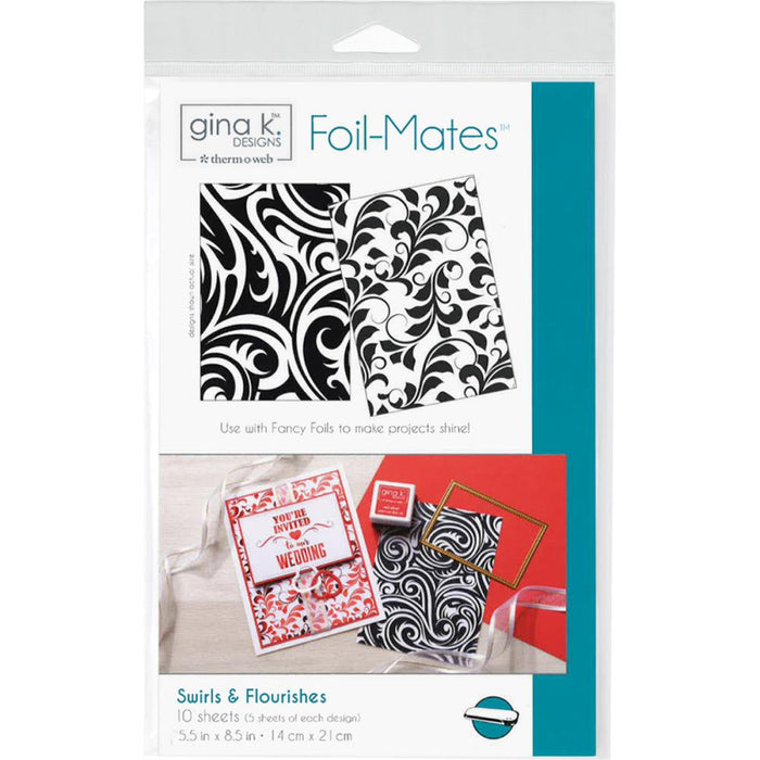 "Gina K Designs Foil-Mates Background 5.5""X8.5"" 10/Pkg"