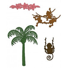 Heartfelt Creations Palm Tree & Monkeys HCD1-7132