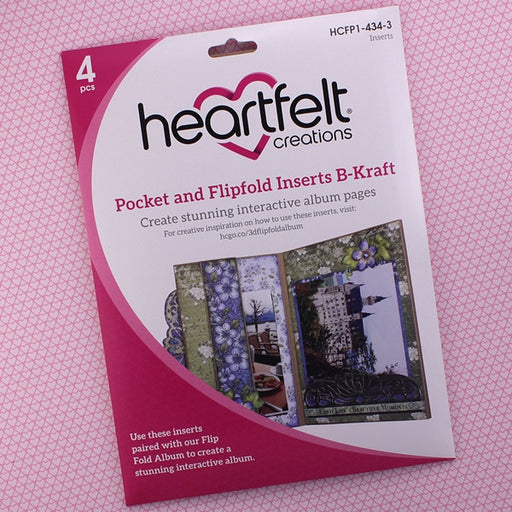 Heartfelt Creations Pocket and Flip Insert HCFP1-434-3 B-Kraft