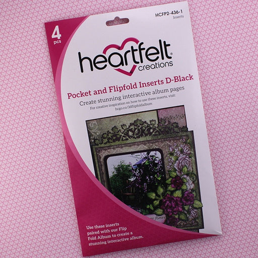 Heartfelt Creations Pocket and Flip Insert HCFP2-436-1 D-Black