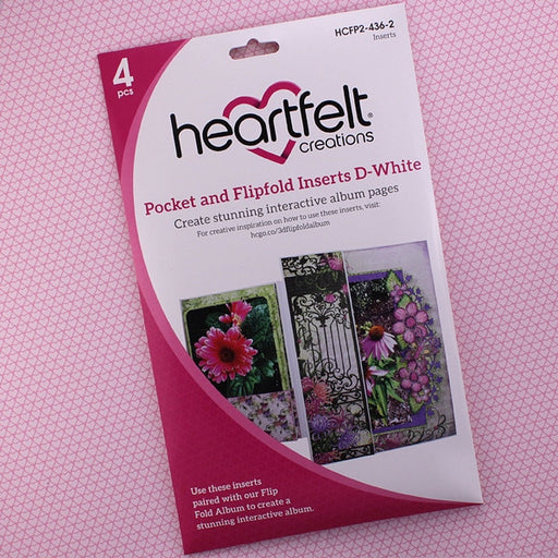 Heartfelt Creations Pocket and Flip Insert HCFP2-436-2 D-White