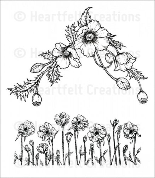 Poppy Corner And Border Stamp