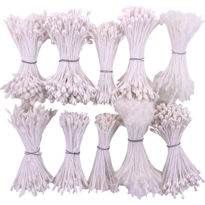 Heartfelt Creations Bridal Bouquet Stamens Small 10/Pkg