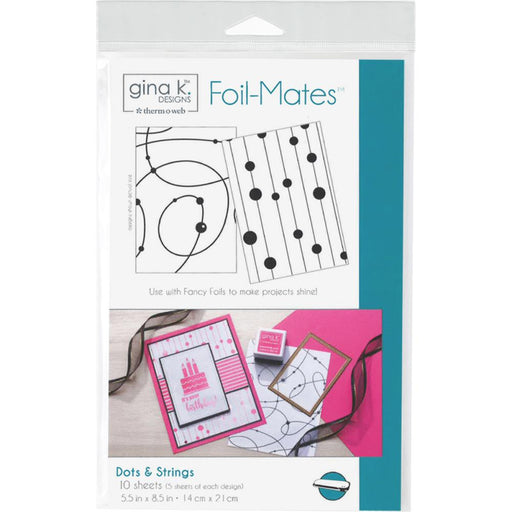 "Gina K Designs Foil-Mates Background 5.5""X8.5"" 10/Pkg - Dots & Strings"