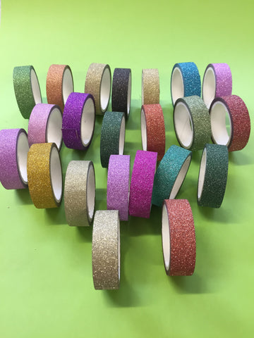glitter tape different  colours 3 for $5.00