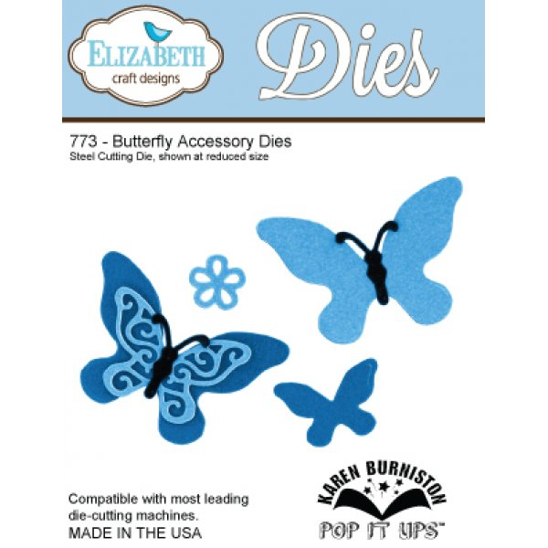 Elizabeth Craft Designs 773 Butterfly Accessory Dies