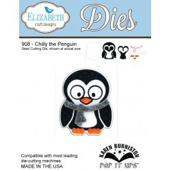 Elizabeth Craft Designs 908 Chilly the Penguin