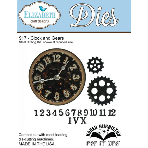 Elizabeth Craft Designs 917 Clock and Gears