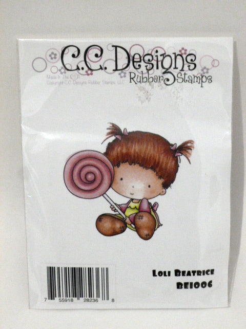 C.C. Designs Rubber Stamp - Loli Bearice BE1006