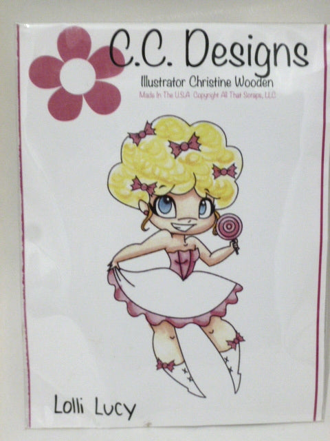 C.C. Designs Rubber Stamp - Lolli Lucy