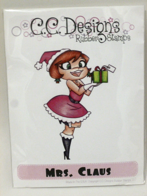 C.C. Designs Rubber Stamps - Mrs Claus