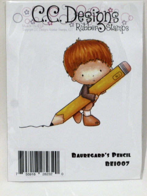 C.C. Designs Rubber Stamp - Bauregard's Pencil - BE1007