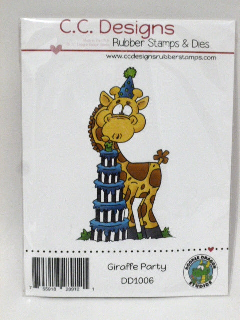 C.C. Designs Rubber Stamp - Giraffe Party - DD1006