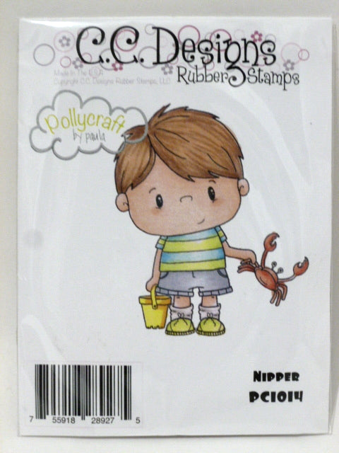 C.C. Designs Rubber Stamp - Nipper - PC1014