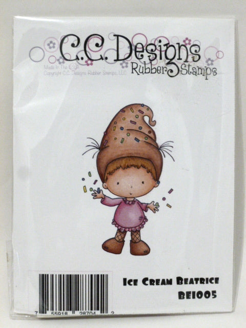 C.C. Designs Rubber Stamp - Ice Cream Beatrice - BE1005