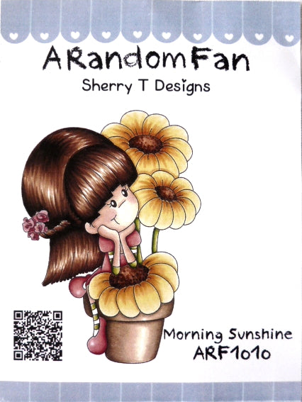 A Random Fan Rubber Stamp - Morning Sunshine - ARF1010