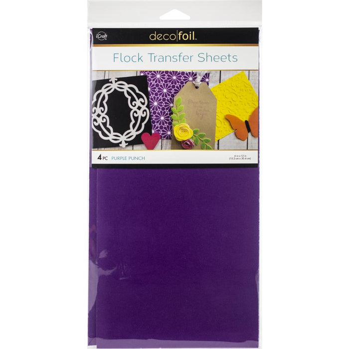 "Deco Foil Flock Transfer Sheets 6""X12"" 4/Pkg"