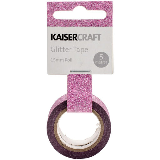 Kaisercraft Glitter Tape PT231 Hot Pink