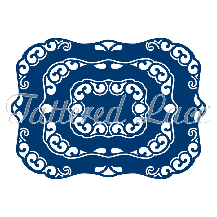 Tattered Lace Die D475 Derwent Decorative Labels