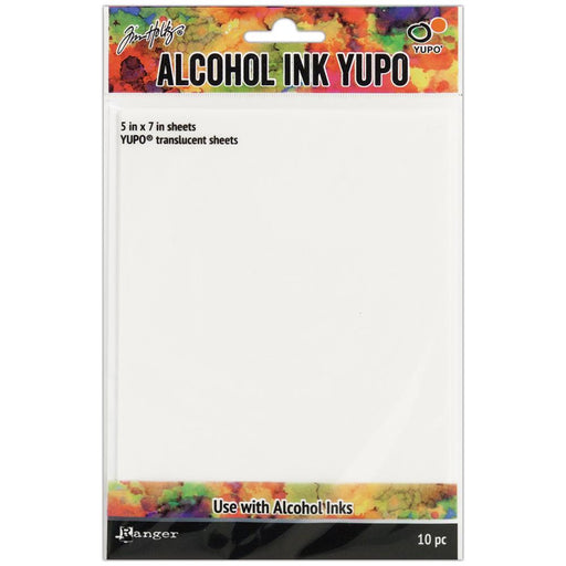 Tim Holtz Alcohol Ink Translucent Yupo Paper 10 Sheets