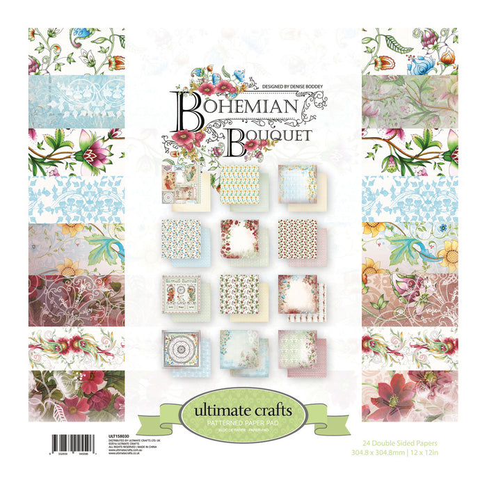 Bohemian Bouquet - Ultimate Crafts Patterned Paper Pad