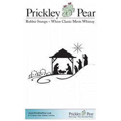 Prickley Pear Cling Stamps 1.25X2-Nativity Scene