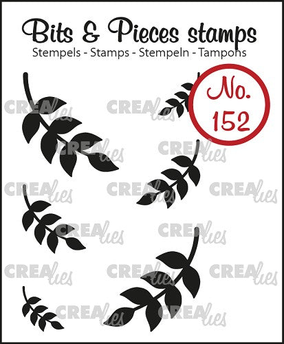 Bits & Pieces stamp no. 152, 6x Mini leaves 8 (closed)