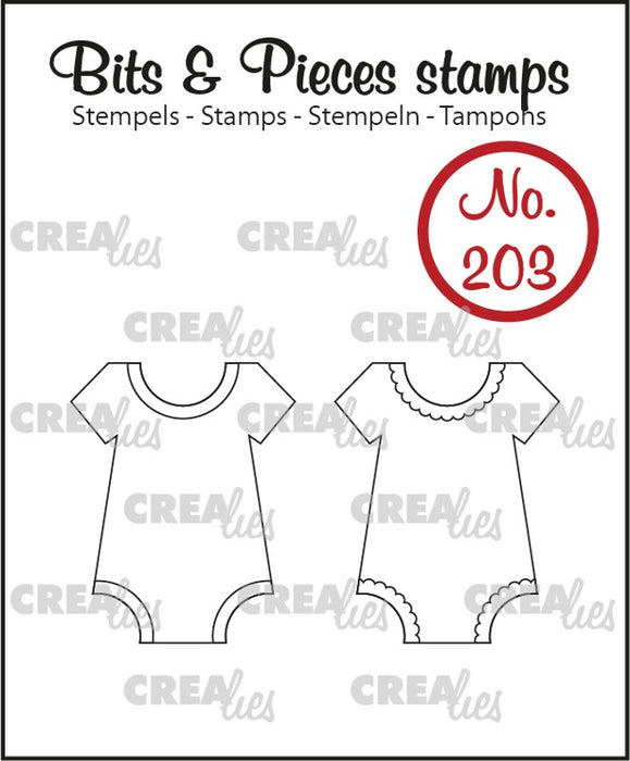 Bits & Pieces stamp no. 203, 2x bodysuit