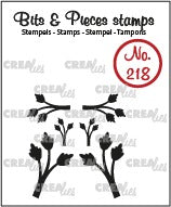 Crealies - Bits & Pieces stamp no. 218, Mini leaves 11