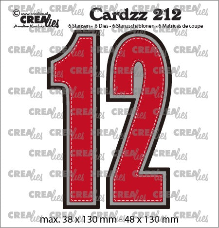 Crealies - Cardzz die no.212 - Numbers 1 and 2