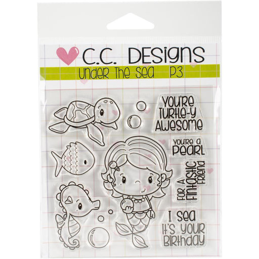 "C.C. Designs Little Pixie Clear Stamps 4""X3"" Under The Sea"