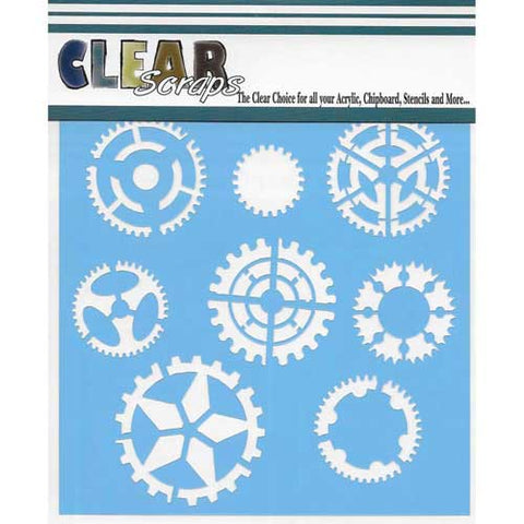"Clear Scraps 12""x12"" Stencil Sprocket"