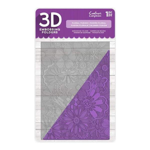 "3D Embossing Folder 5""x7"" - Floral Fusion"