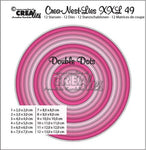 Crealies Crea-nest-dies XXL no. 49 double dots circles