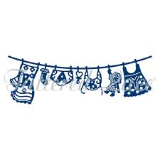 Baby Girl Washing Line