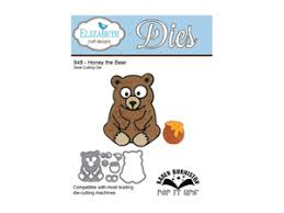 Elizabeth Craft Designs Honey The Bear 948