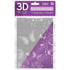 "3D Embossing Folder 5""x7"" - Butterfly Trellis"
