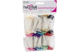"Heartfelt Creations - Pearl Stamens Small 1mmX2.25"" 10 Pack Assorted"