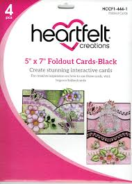 "5"" x 7"" Foldout Cards-Black - HCCF1-444-1"