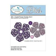 Elizabeth Craft Designs 923 Crystal Flower Overlay Set 2