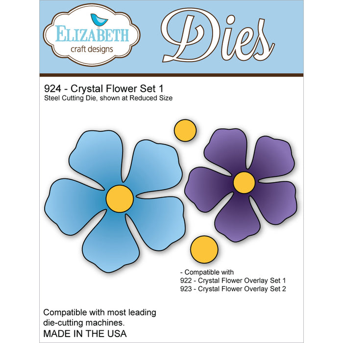 Elizabeth Craft Designs 924 Crystal Flower Set 1