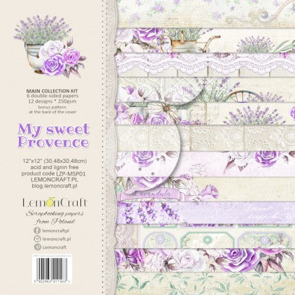 "PAD SCRAP PAPERS 6""x6"" - LEMONCRAFT - MY SWEET PROVENCE"
